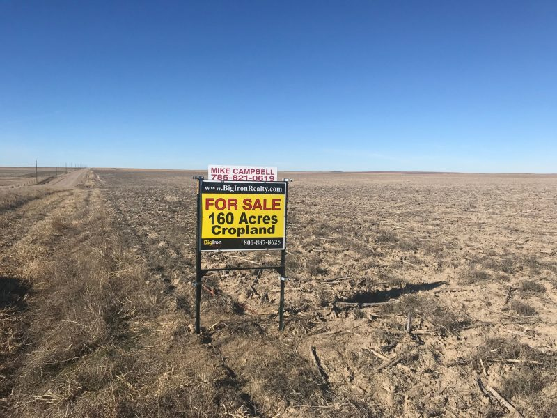160.04+/- Acres Cropland, North of McAllaster, KS