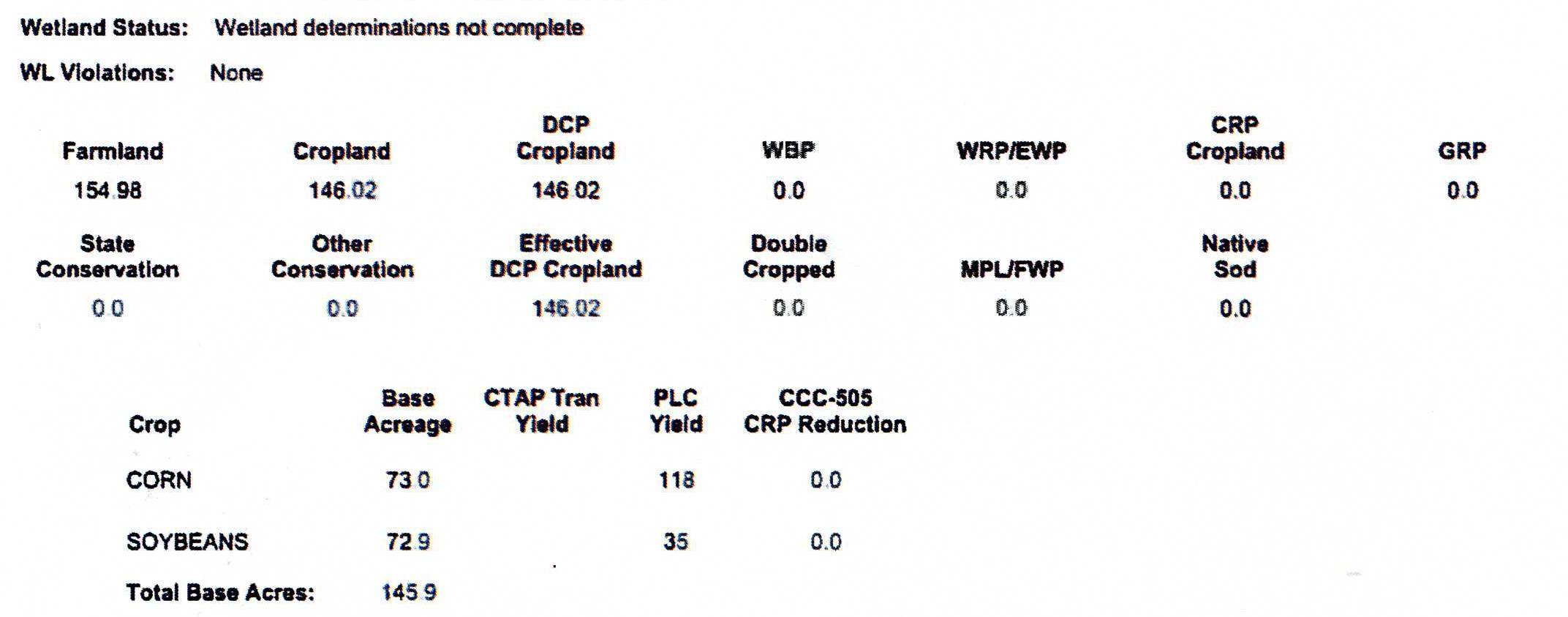 Crop Info M4