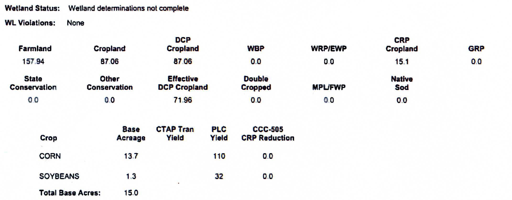 Crop Info M5