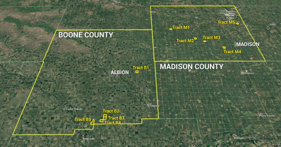 Land Auction 1,594.38+/- Acres Madison & Boone Counties, Nebraska
