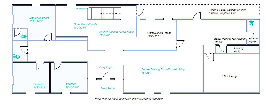Floor plan 20 Cottonwood Dr