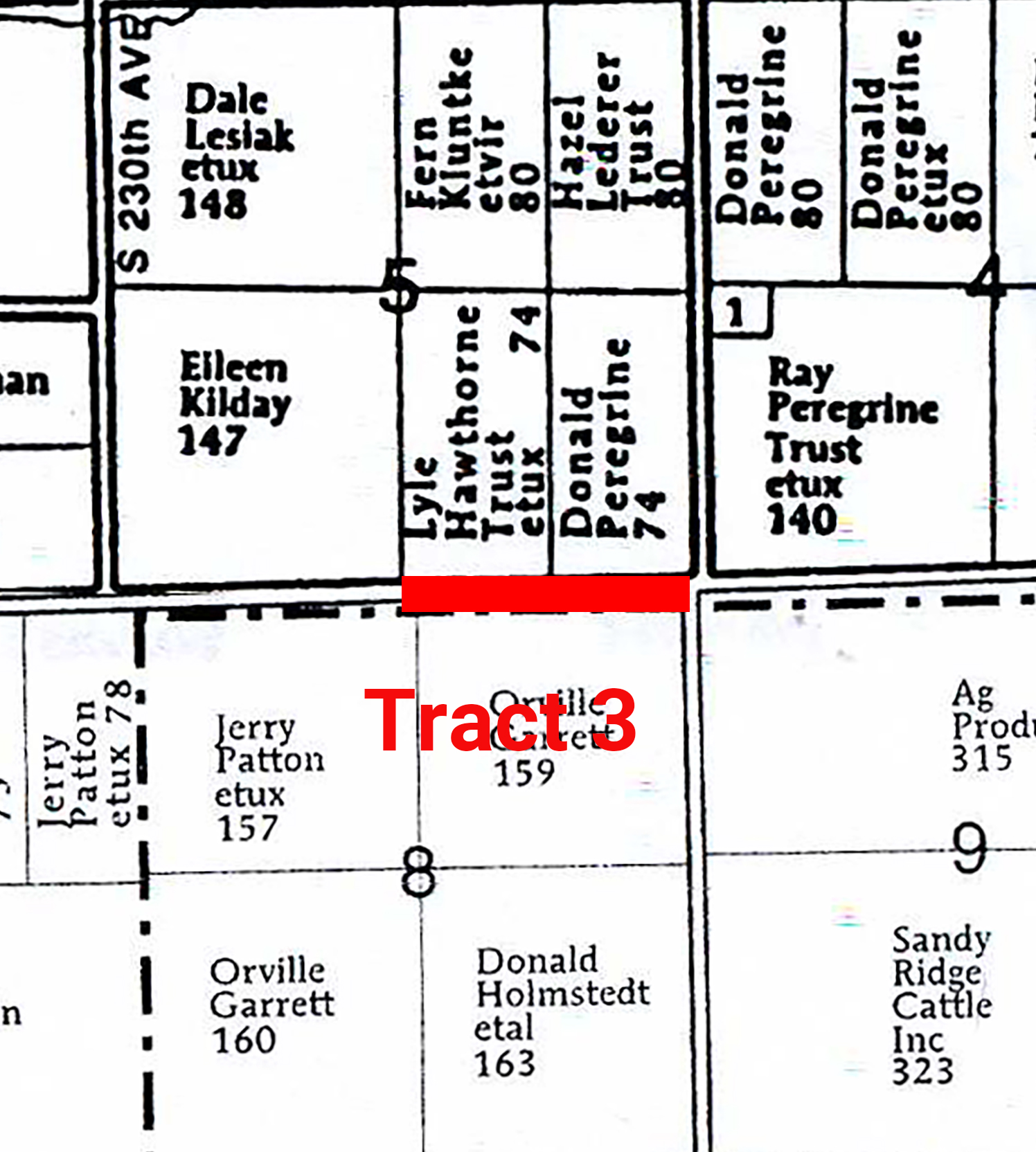 Plat Map Tract 3_Hawthorne