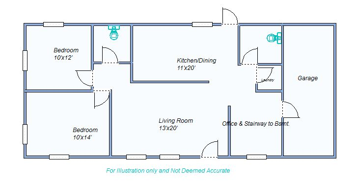 floor plan 1885 W 5th