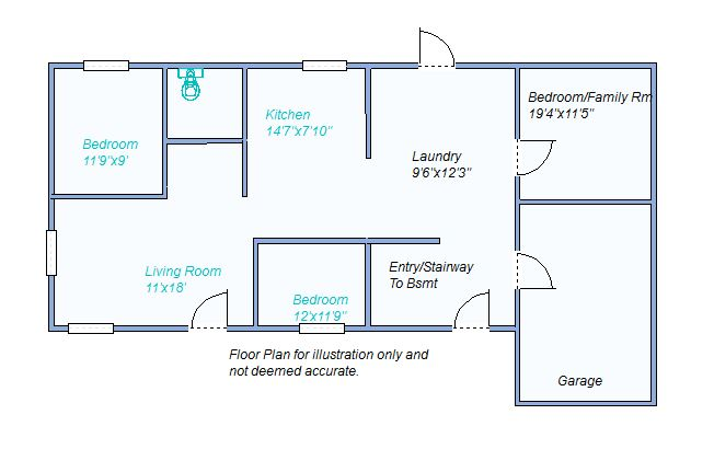 floor plan 195 S Franklin