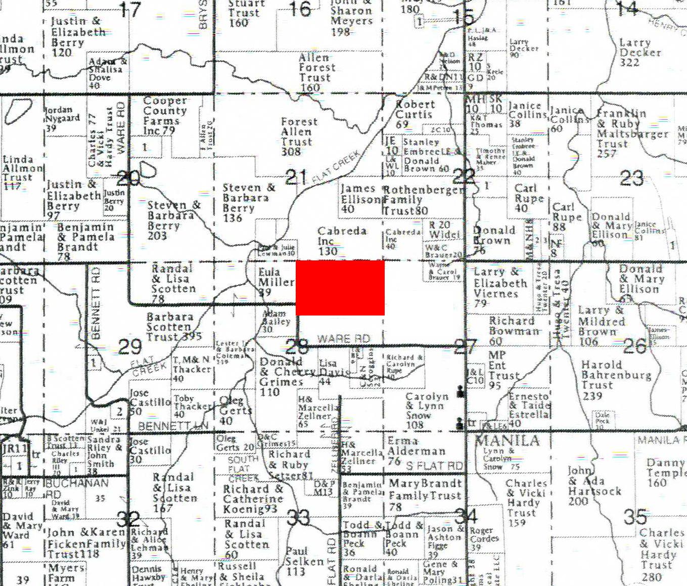 Plat Map Tract 2BIR51