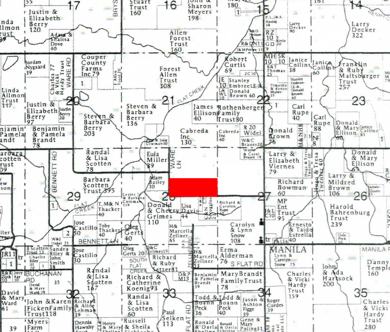 Iron County, Michigan land for sale - 80 acres at ... |Irion County Plat Map