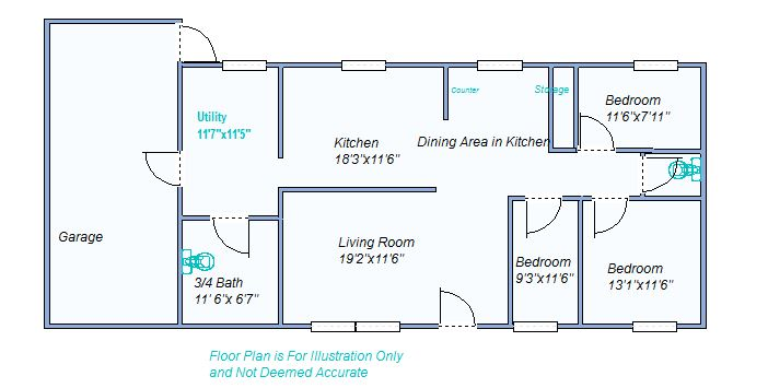 Floor plan 805 E 5th