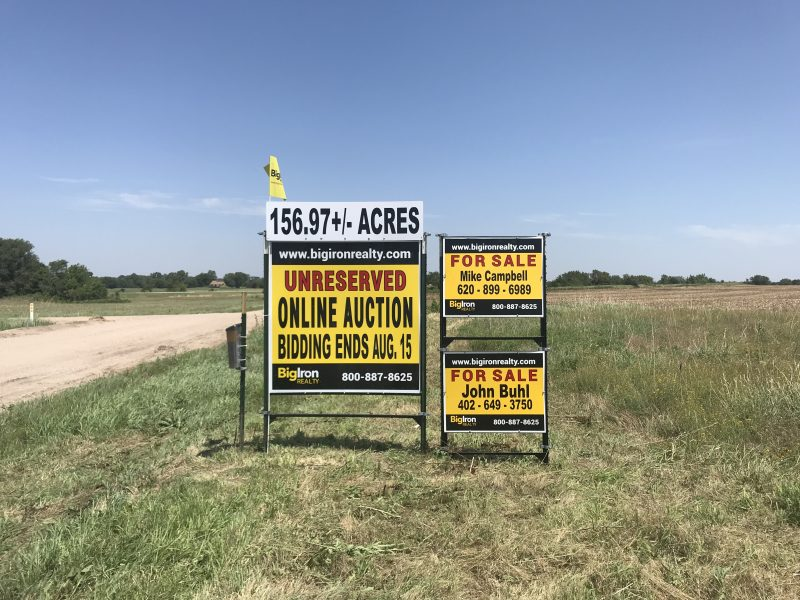 Land Auction 156.97+/- Acres Sedgwick County, Kansas
