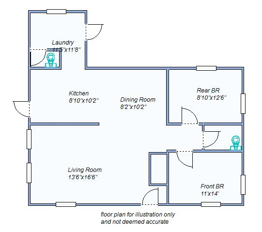 Floor Plan 220 N French