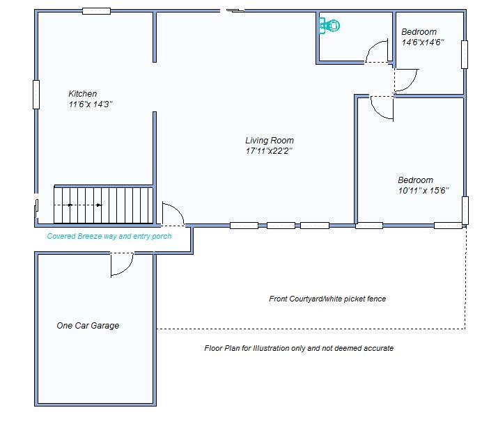 floor plan 515 S Garfield