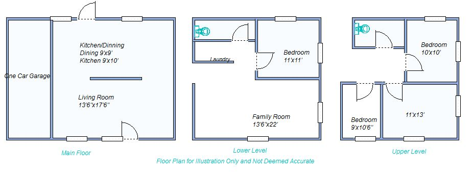 floor plan 1100 Ct Place