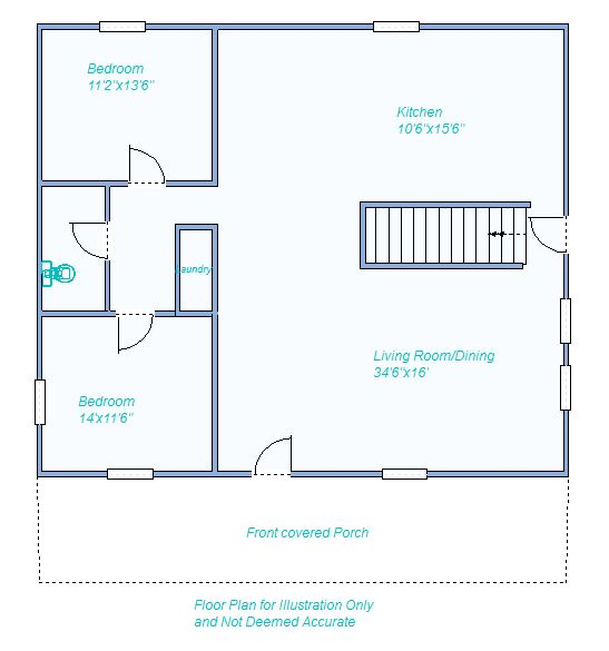 floor plan 360 S Chick