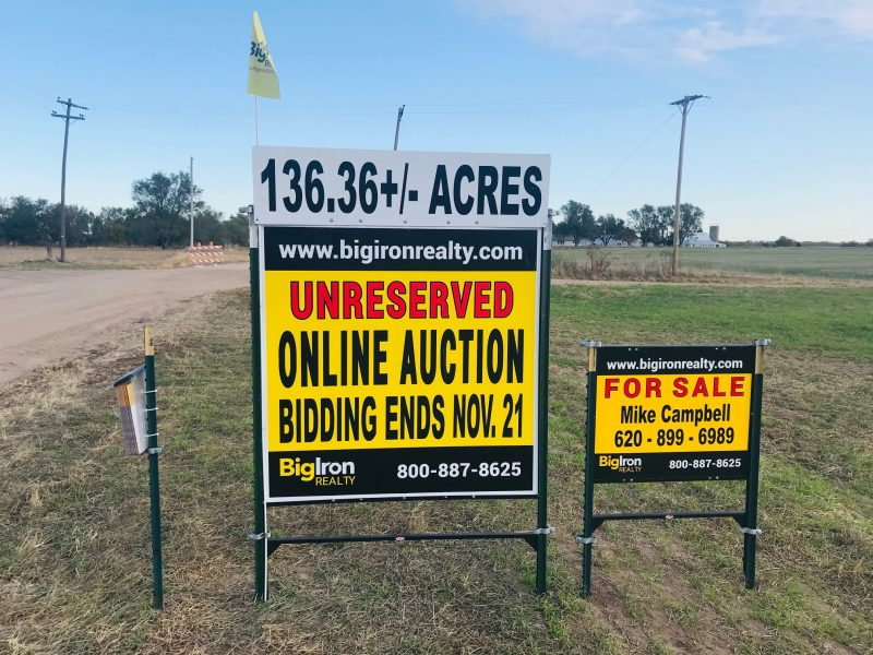 Land Auction 136.36+/- Acres Reno County, Kansas