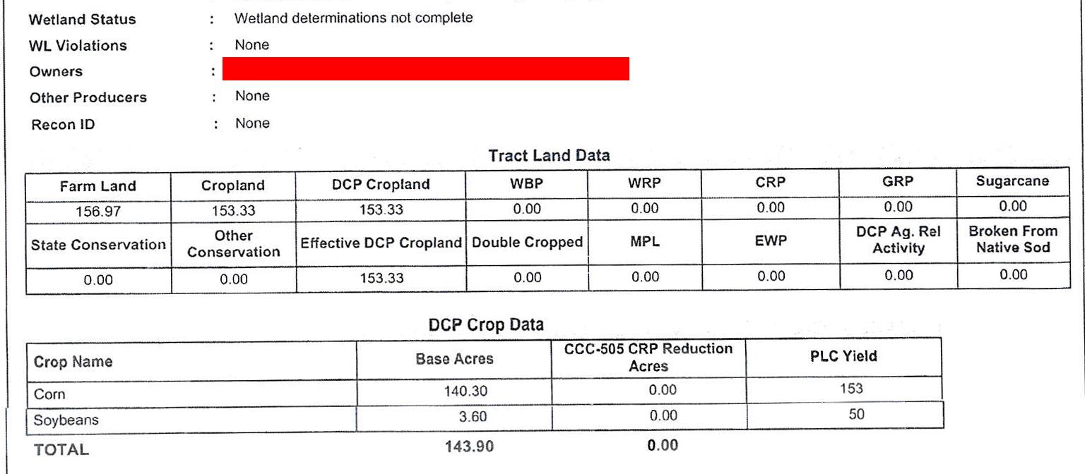 Crop Info BIR1033