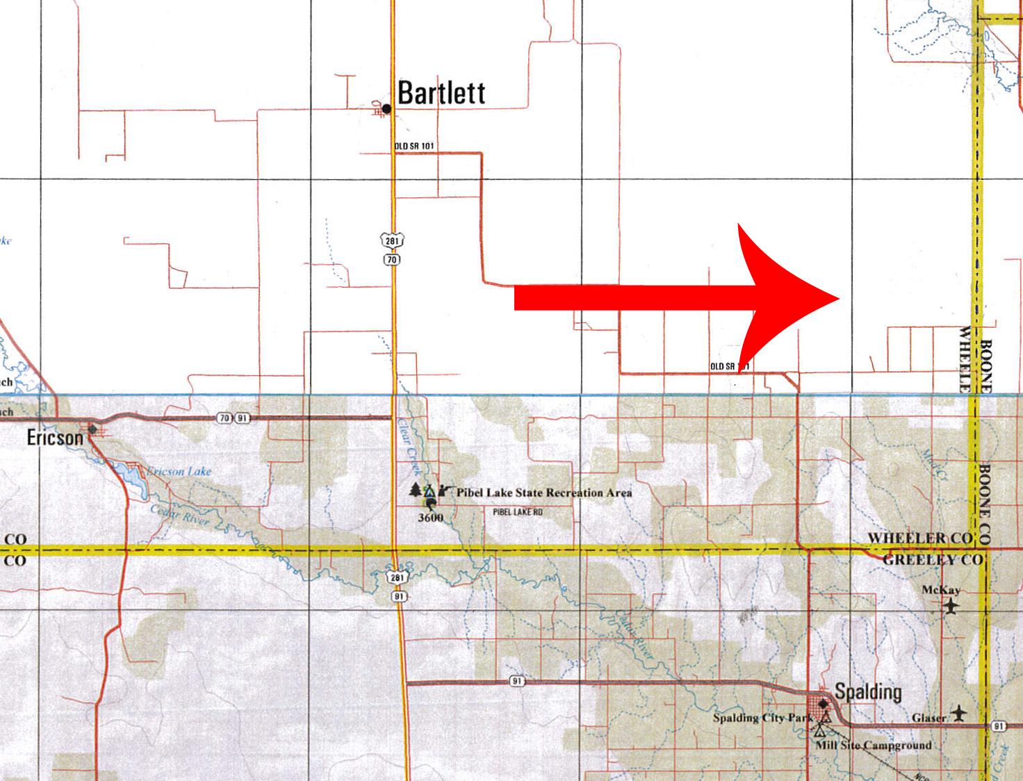 Edwin Kay Farms Location Map