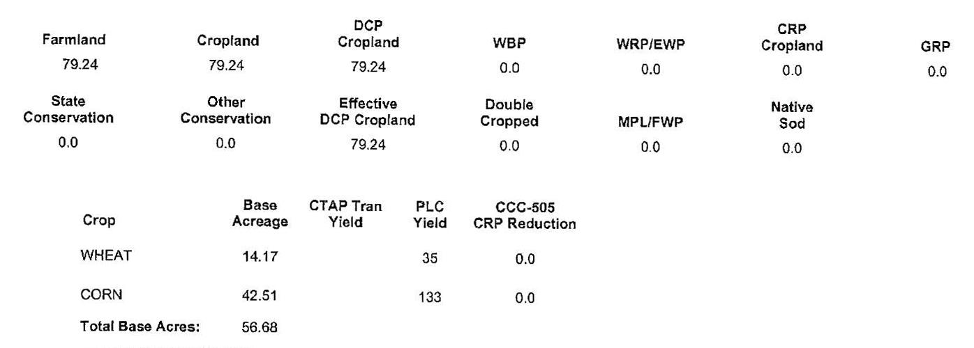 Crop Info 1BIR-73