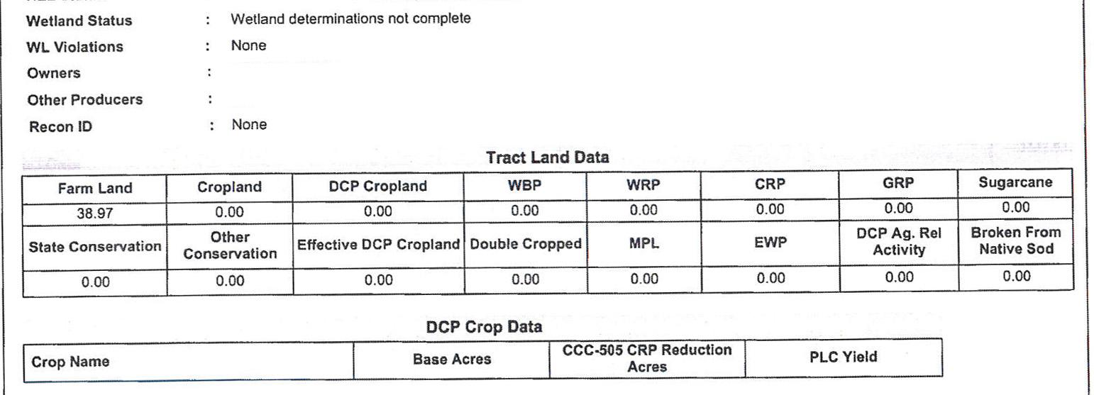 Crop Info 5-BIR78