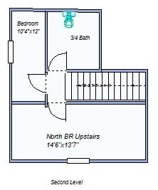 Floor plan 2nd floor 640 W Summit
