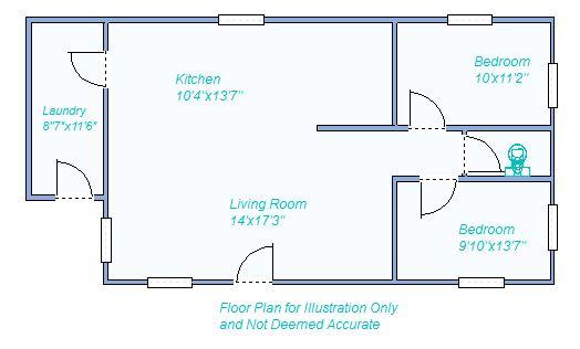 floor plan 615 E 7th