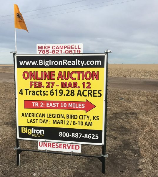 Land Auction 619.28+/- Acres Cheyenne & Sherman County, KS