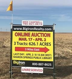 Land Auction 626.1+/- Acres Wallace County, KS