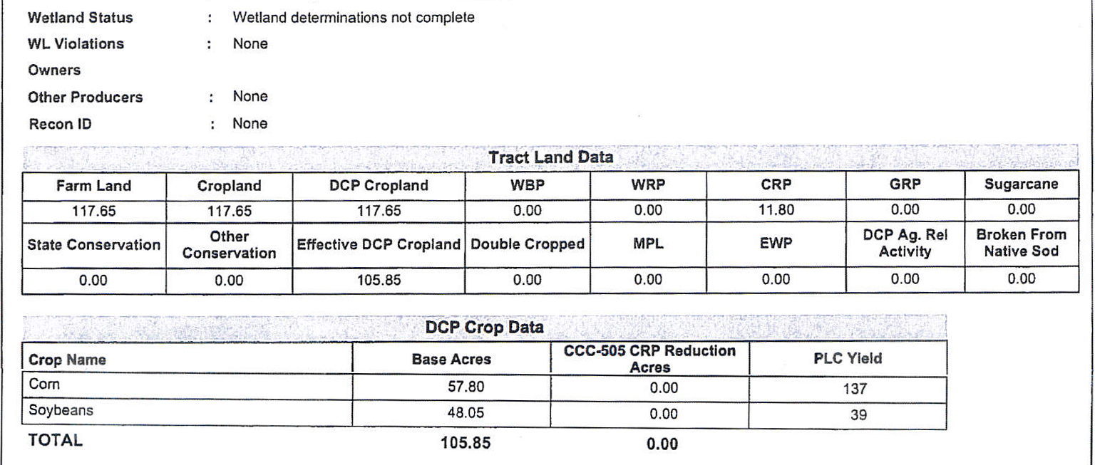 Crop Info-BIR91
