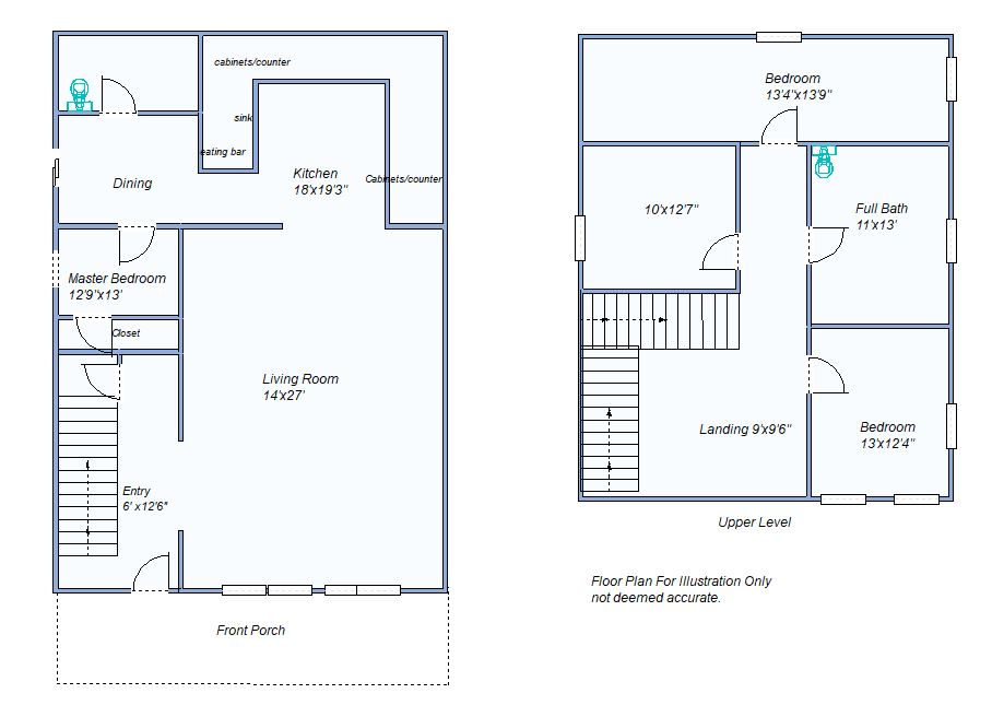 floor plan 290 N Garfield