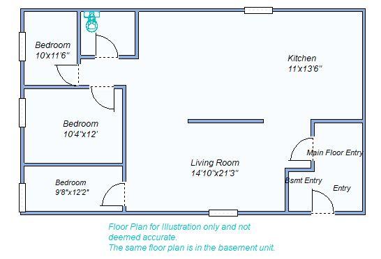 Floor Plan 665 S Grant