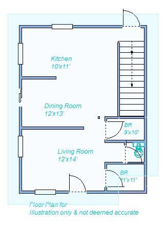 floor plan 1180 W 5th