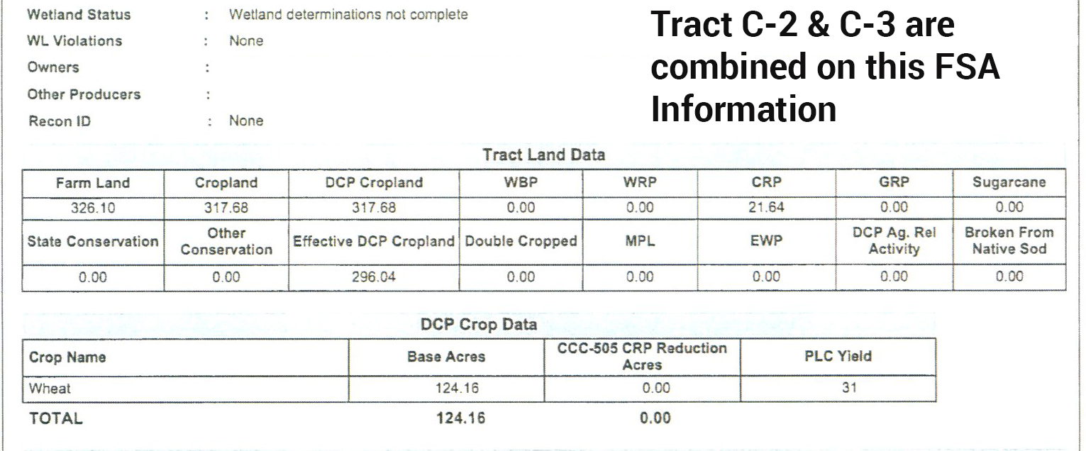 C-2 C-3 FSA Info