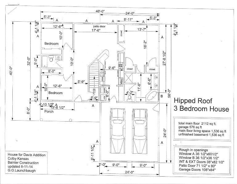 Floor Plan 1750 Sewell