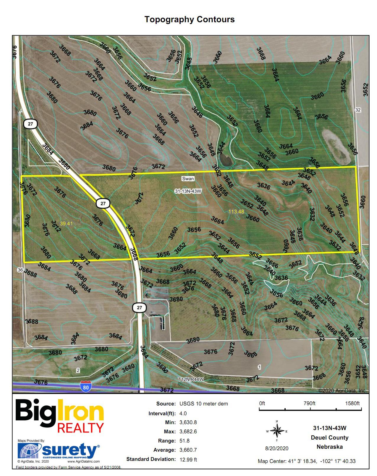 Topography Contours BIR1052