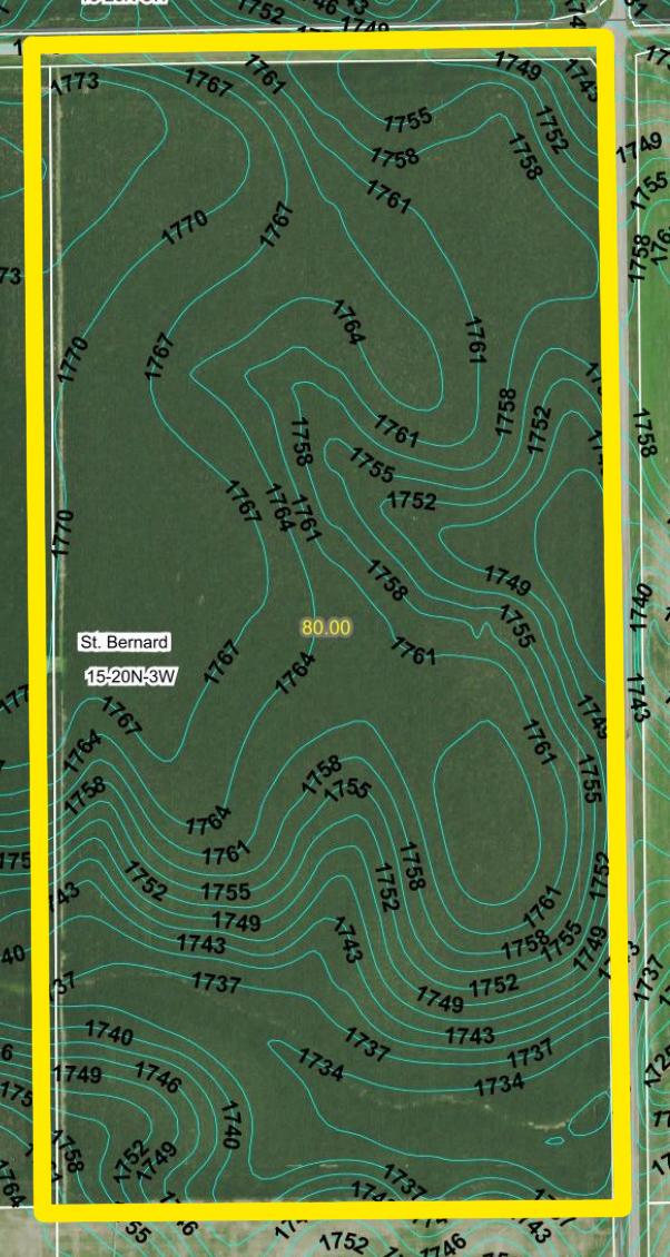 Topography Contours2-BIR95