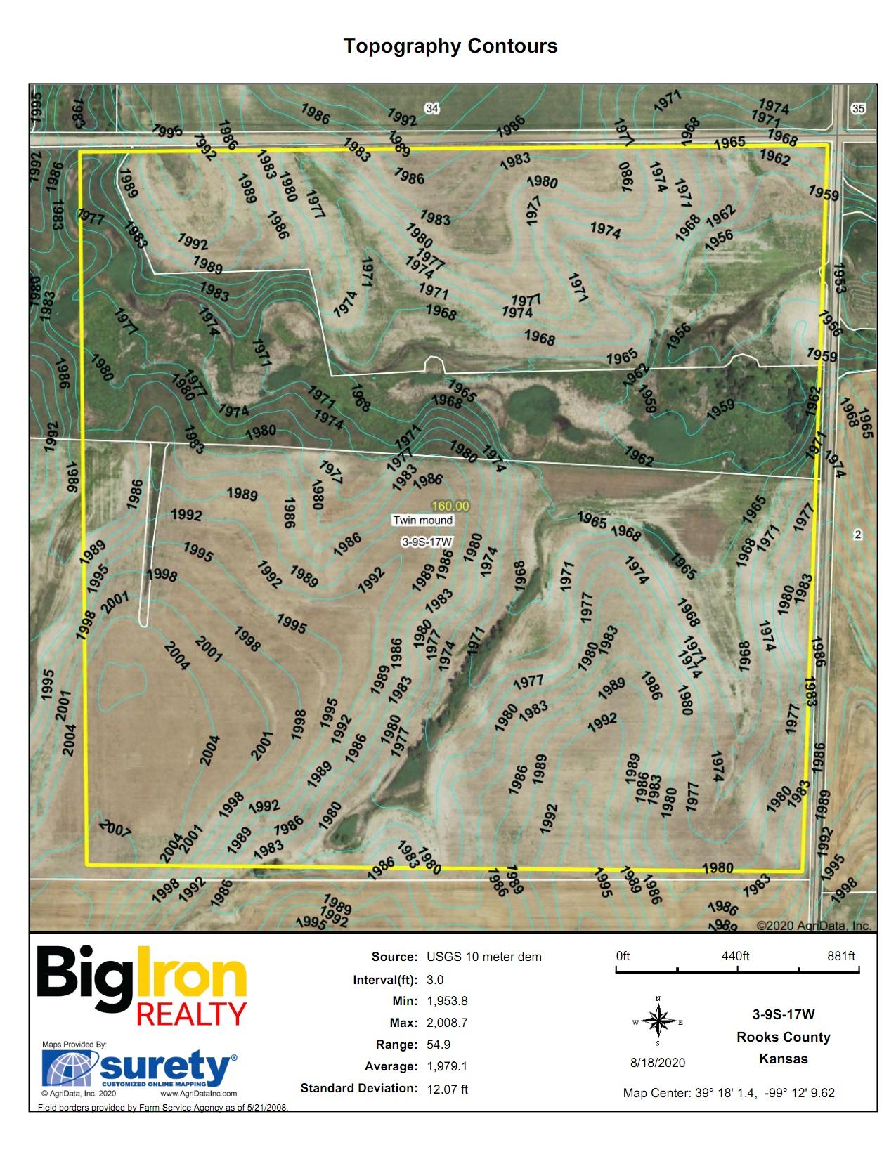 Topography Contours BIR1050