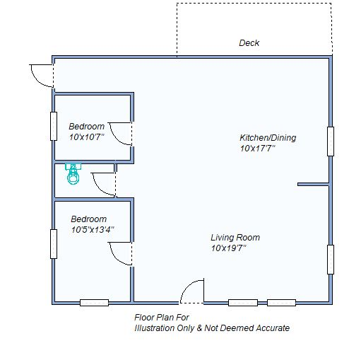 810 S Garfield floor plan