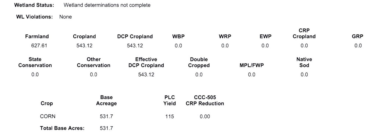 Crop Info 1-1058