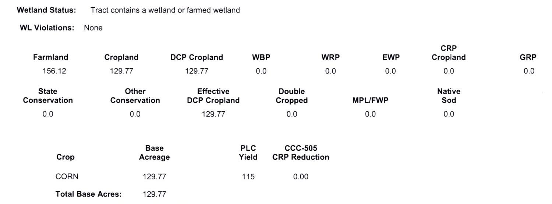 Crop Info 5-1058