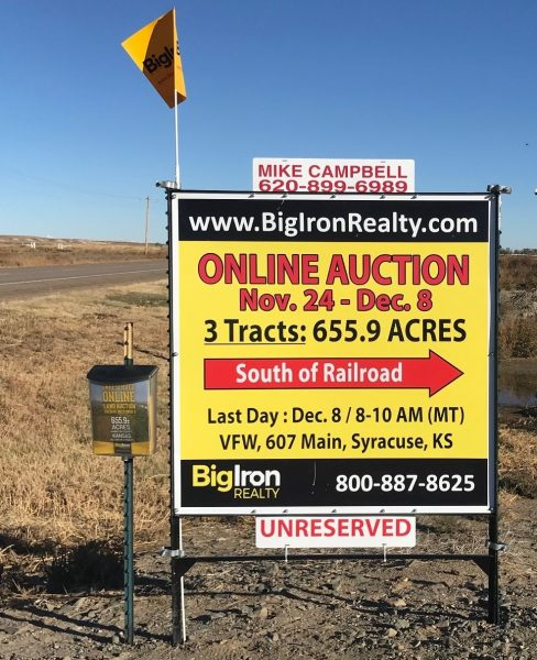 Land Auction 655.9+/- Acres Hamilton County, KS Selling in 3 Tracts