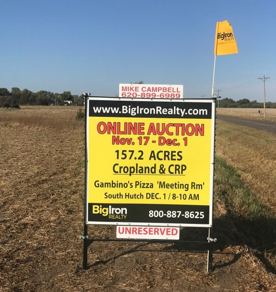 Land Auction 157.2+/- Acres Reno County, KS