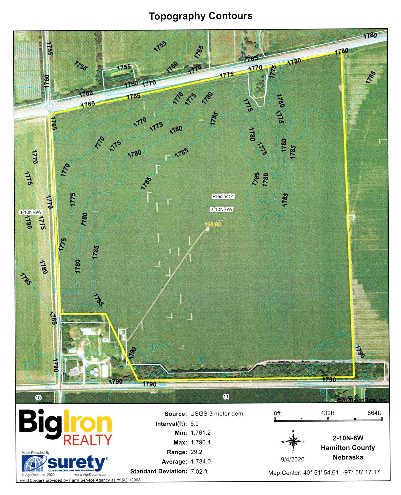 Topography Contours 3-BIR104