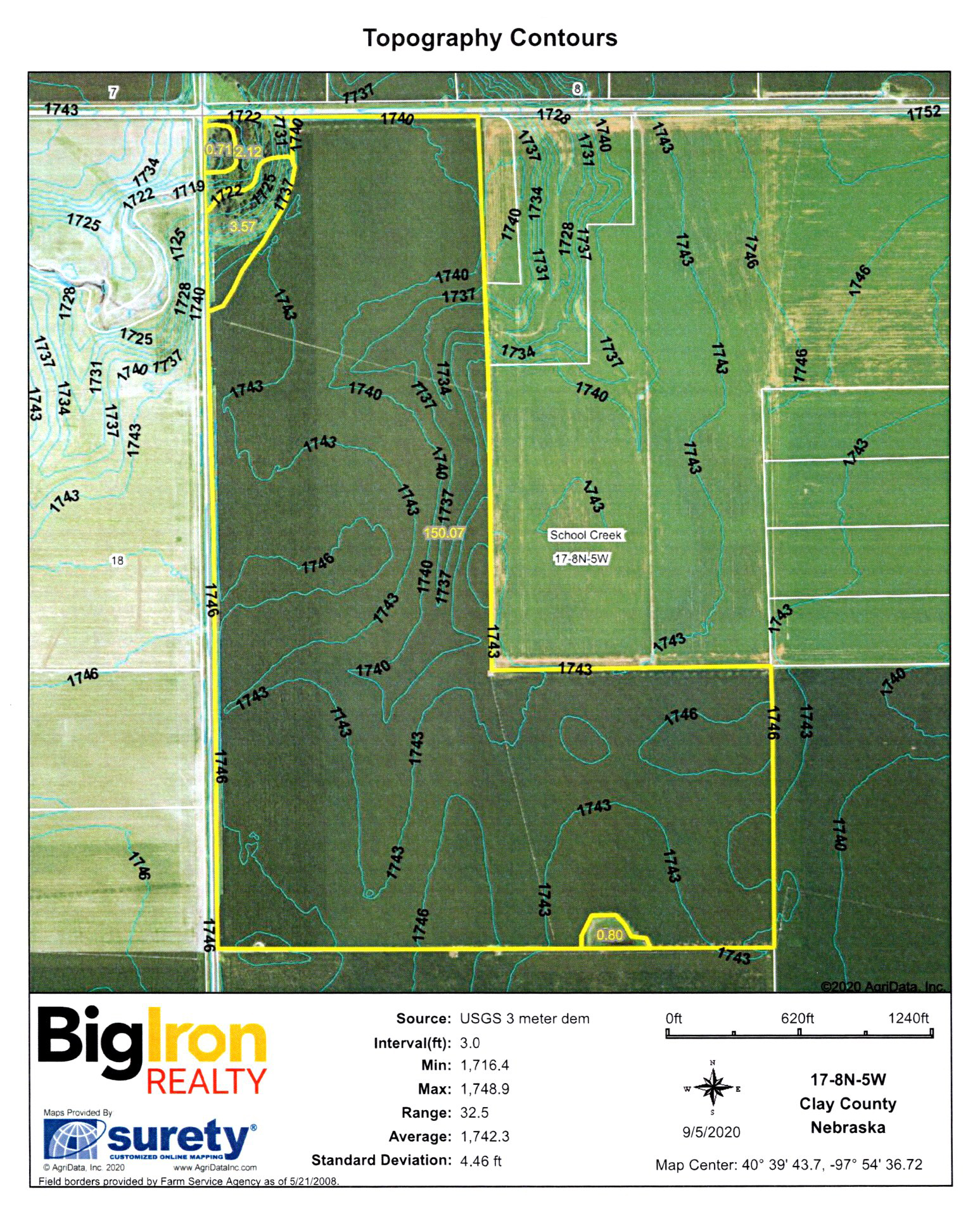 Topography Contours 6-BIR104