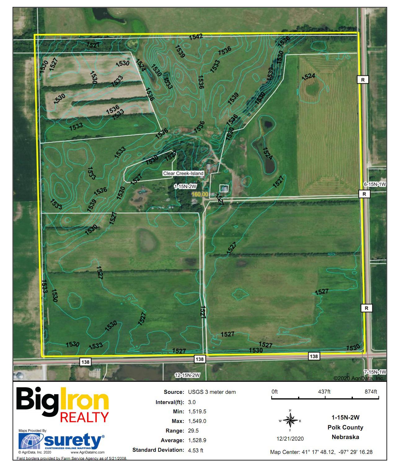 Topography Contours-BIR2105