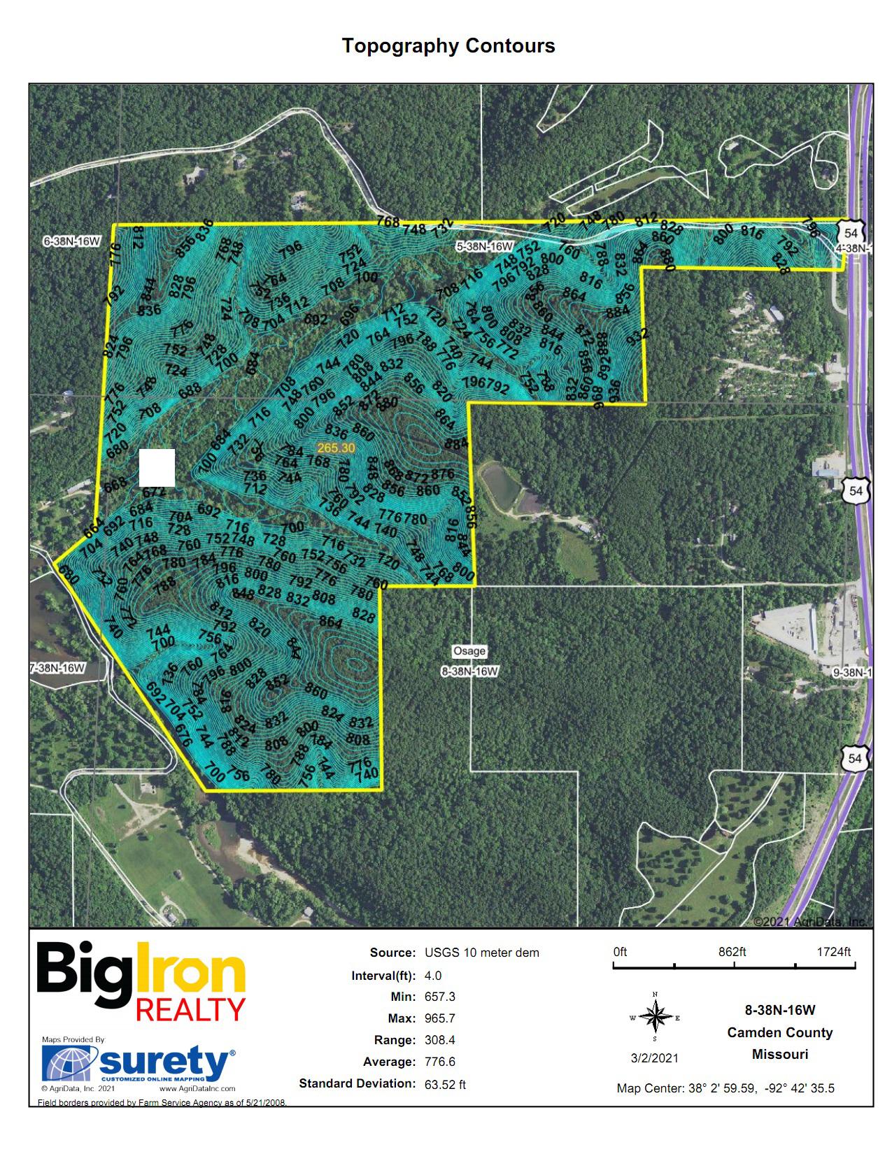 Topography Map-BIR1079