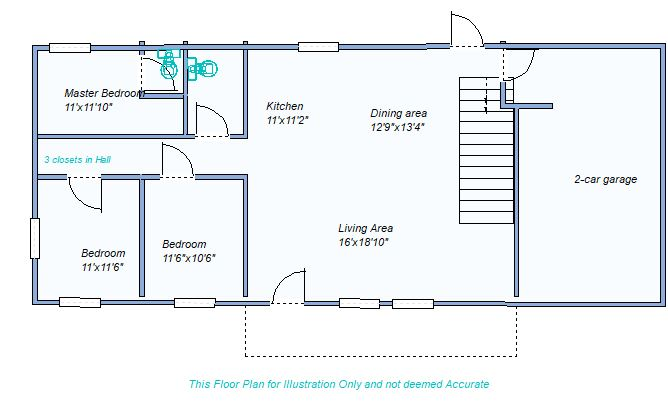 Floor Plan 1280 Brookside
