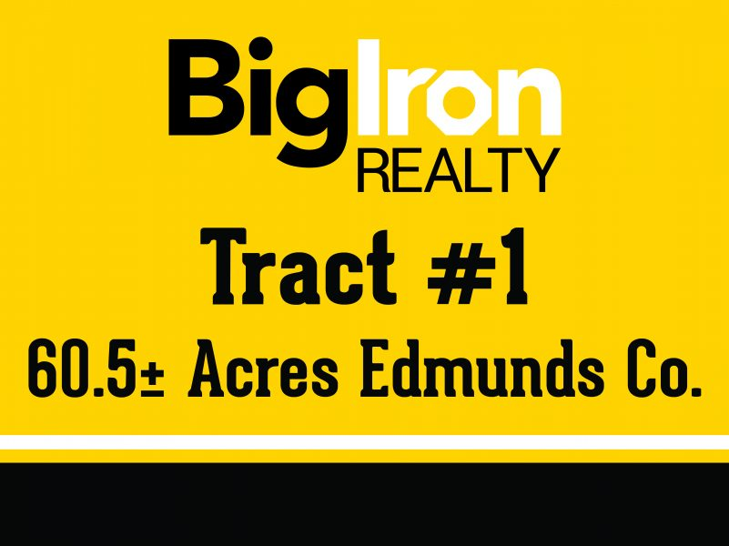 Land Auction 300+/- Acres Edmunds County, SD Selling in 2 Tracts