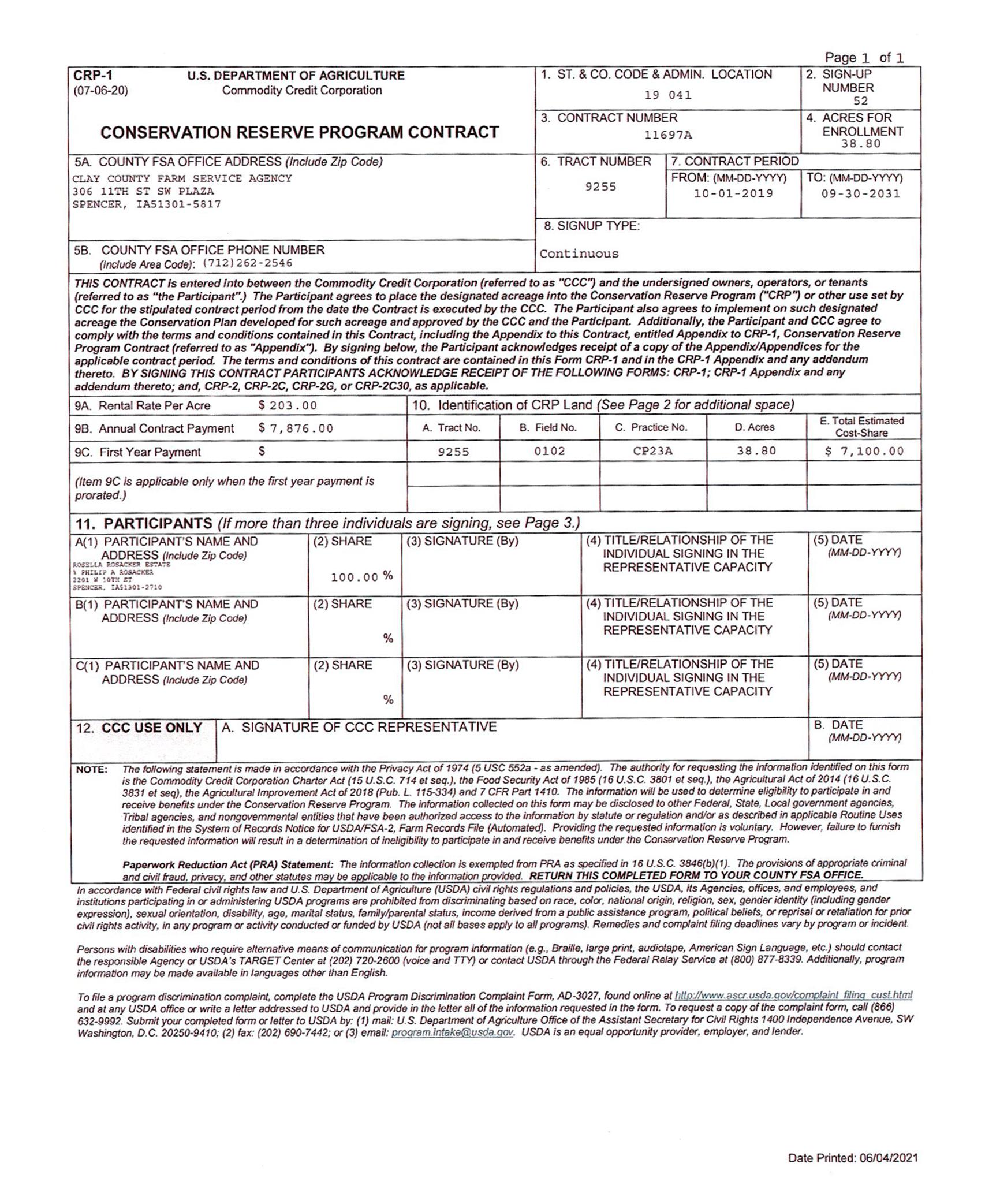 3-CRP Contract-BIR2128