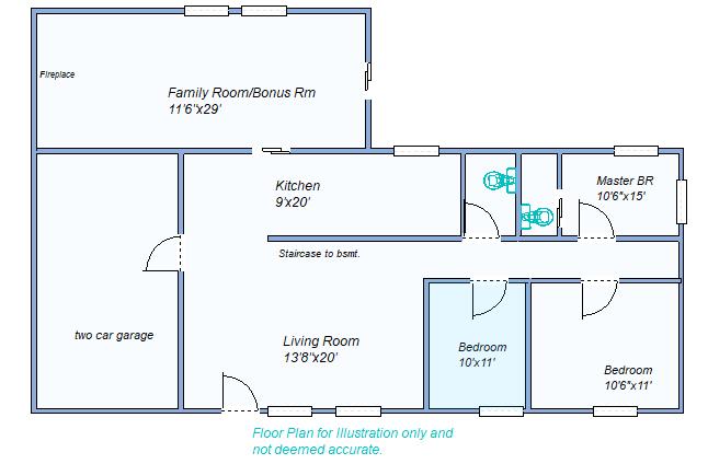 Floor Plan 1285 N Brookside