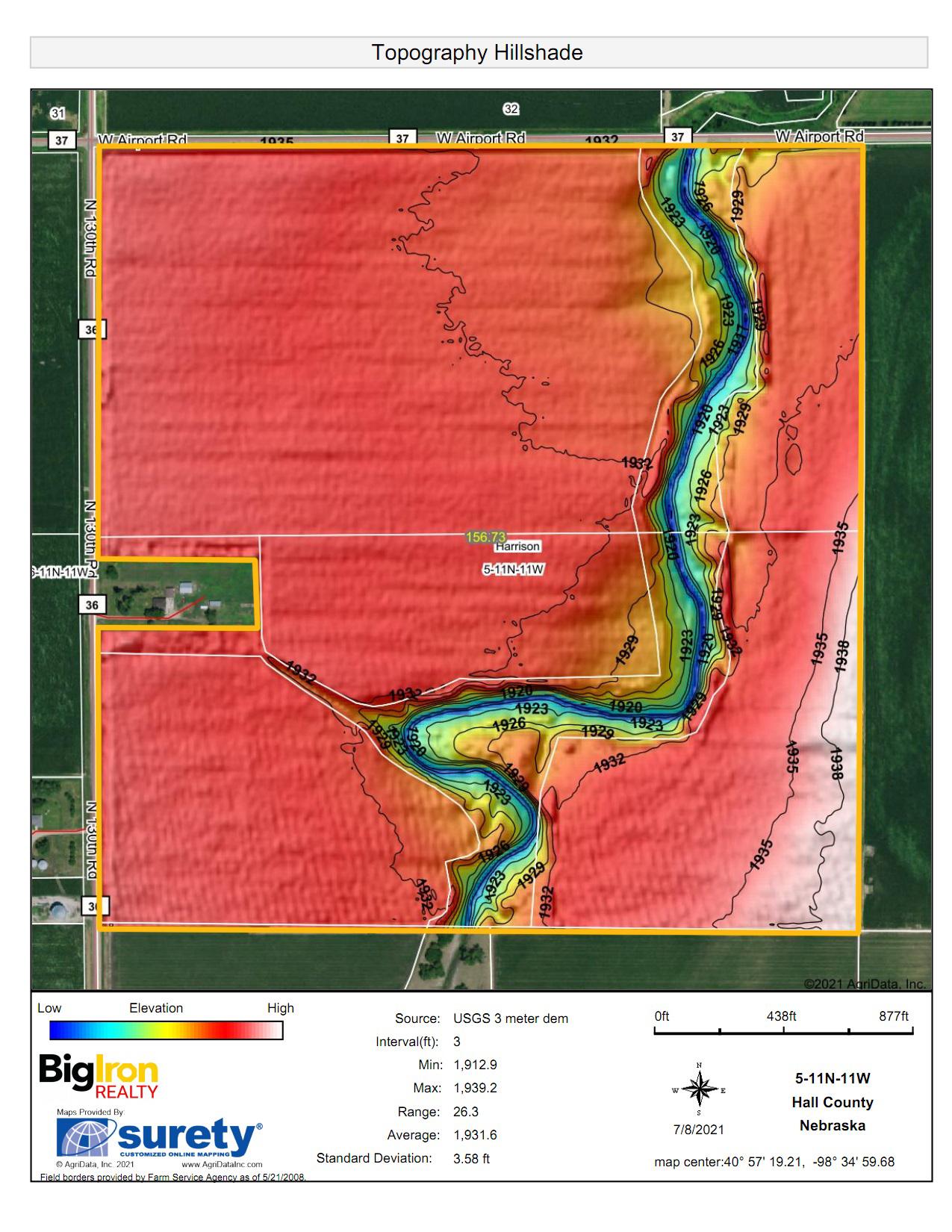 Topography Hillshade-BIR2130