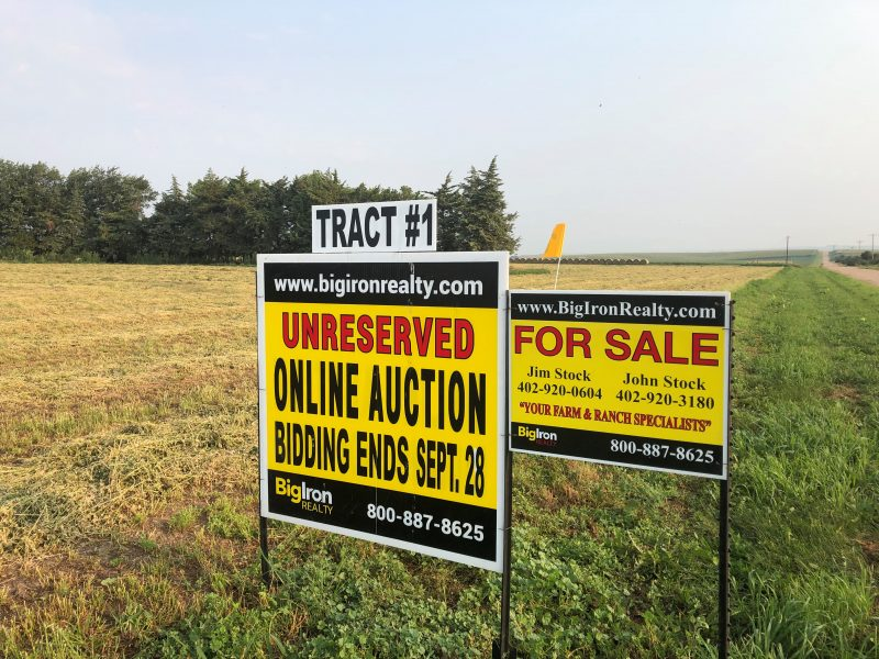 Land Auction 320+/- Acres Platte County, NE selling in 3 Tracts