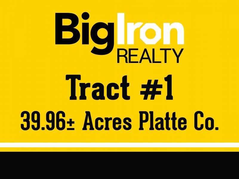 Land Auction 80.6+/- Acres Platte county, NE Selling in 2 Tracts